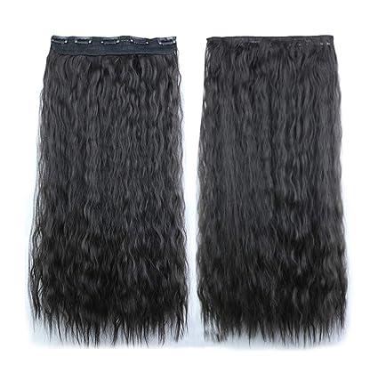 lubity peluca mujer peluca de pelo largo rizado ondulado mujeres de la moda Lady completo WIDMANN