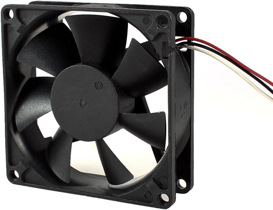 80mm x 80mm x 25mm DC 12V collarín de embrague de ventilador de refrigeración para la caja de la PC