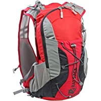 Rat Race Great Glen Hydration Back Pack Fitness Sport Running 15 Litres Red Grey Yellow Light
