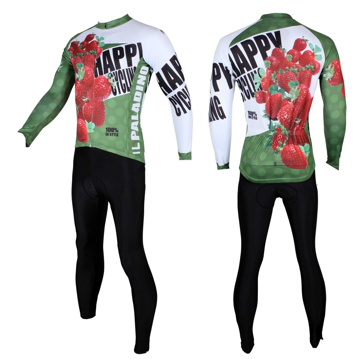 Sommer Strawberry Pattern Jersey Set Herren Reithose Set Quick Dry Fahrrad Reithose Fahrradtrikot LPLHJD