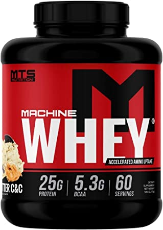 MTS Machine Whey Protein (5lbs, Peanut Butter Cookies & Cream)