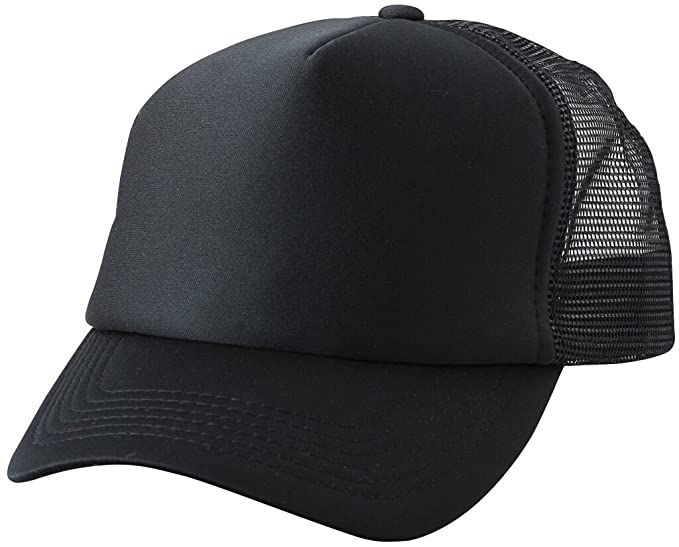 9145fa8628a Myrtle Beach Trendy 5 panel mesh cap in many colour combinations (black  black)