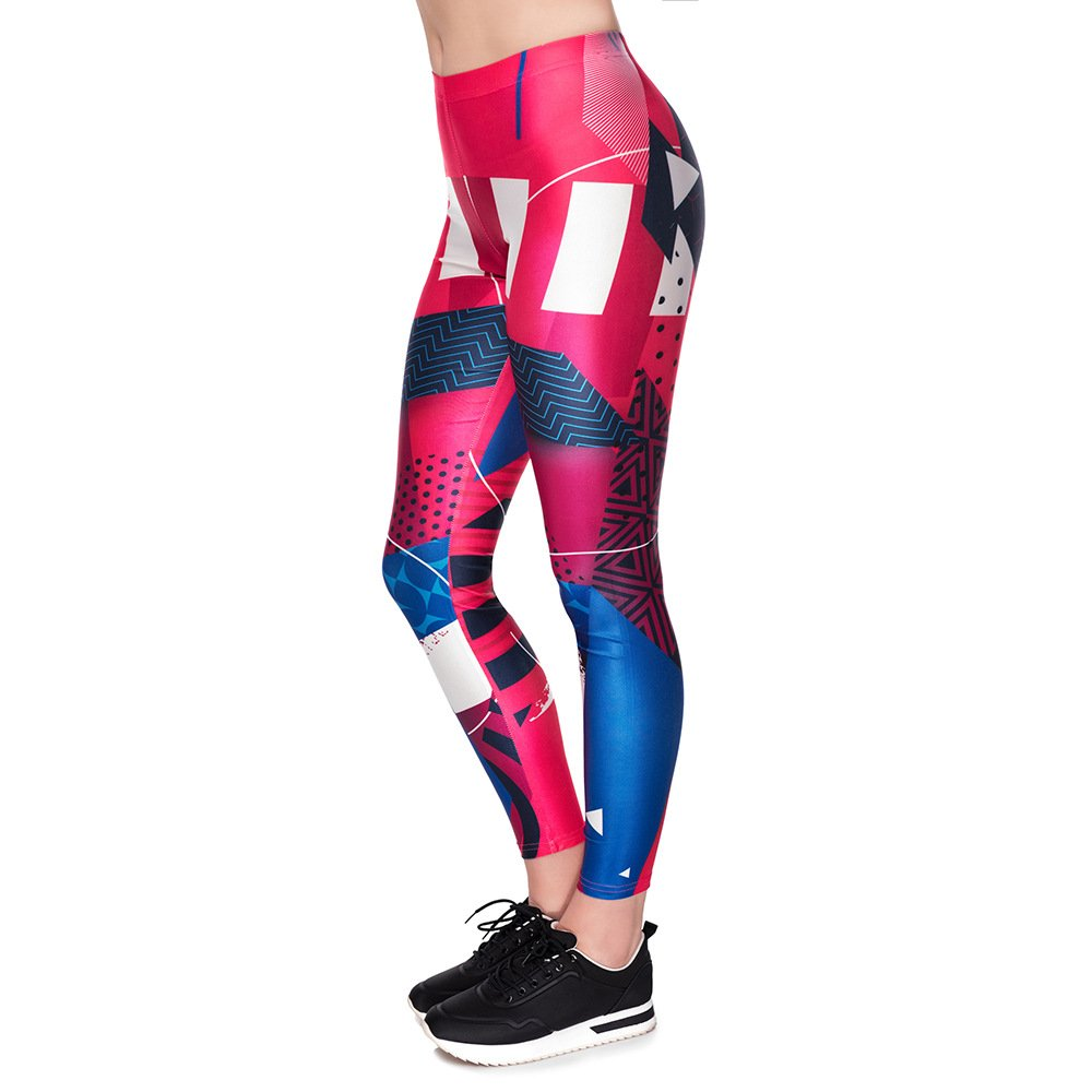 MAOYYMYJK Yoga-Hose Für Damen Fashion Sport Leggings 3D Digitaldruck Eng Anliegende Neun-Bein-Hose D1861