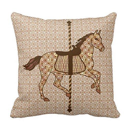 Emmala Carousel Horse Funda De Cojín Casual Chic Marrón Y ...
