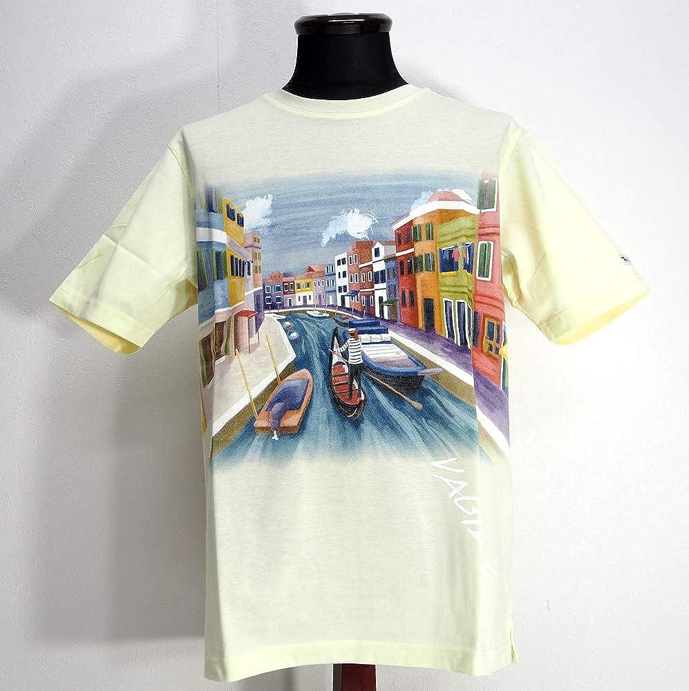最安値で  50830 VAGIIE バジエ 日本製 UVカット 通販 ゴルフ Uネック 丸首 Tシャツ 半袖 サイズ イエロー 46(M) サイズ 日本製 メンズ カジュアル 男性 春夏 ゴルフ 通販 B07PVSBY42, 方城町:b8bb50a8 --- ballyshannonshow.com