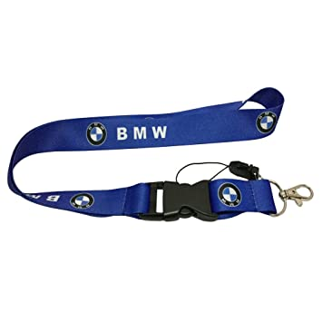 1pc Blue Color USA Ship New Quick Release Neck Strap Lanyard Keychain Keyring Car Keys House Keys ID Badges Card For BMW Design