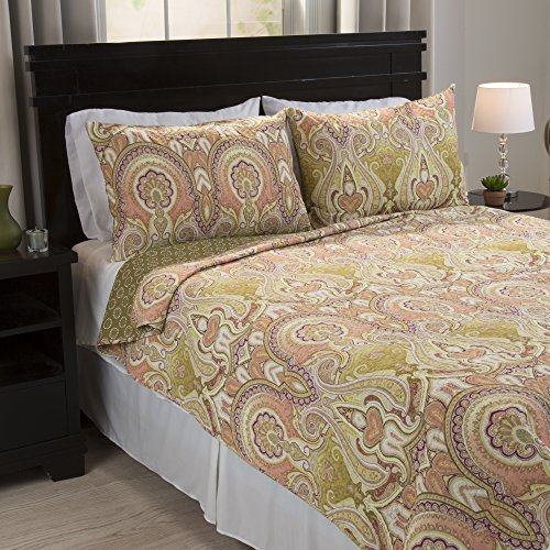 Ava Comforter Set (Bedford Home Ava 2 Piece Cotton Quilt Set - Twin)