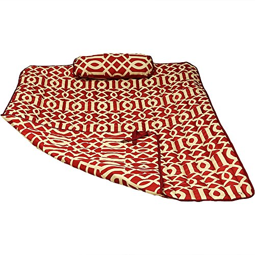 Sunnydaze Weather-Resistant Outdoor Polyester Quilted Hammock Pad and Pillow Only Set, Royal Red by Sunnydaze Decor