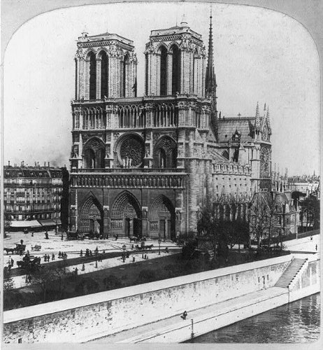 Photo: Notre Dame Cathedral,Paris,France,c1901,Catholic,French Gothic Architecture