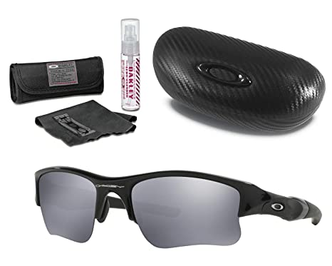 Xlj With Kit Hard Jacket Flak Sunglasses Carbonfiber And Ellipse Case Cleaning Lens Oakley O Nw0Pynm8Ov