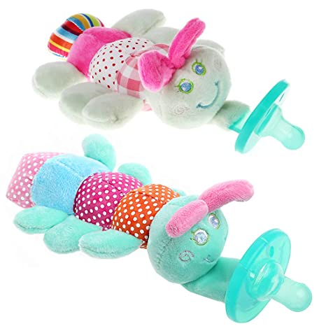 Animales Baby Nippel Infant wubbanub silicona Chupete con ...
