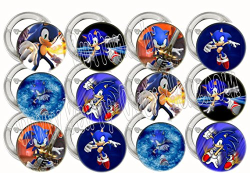 Sonic the Hedgehog Video Game Party Favors Supplies Decorations Collectible Metal Pinback Buttons, Large 2.25
