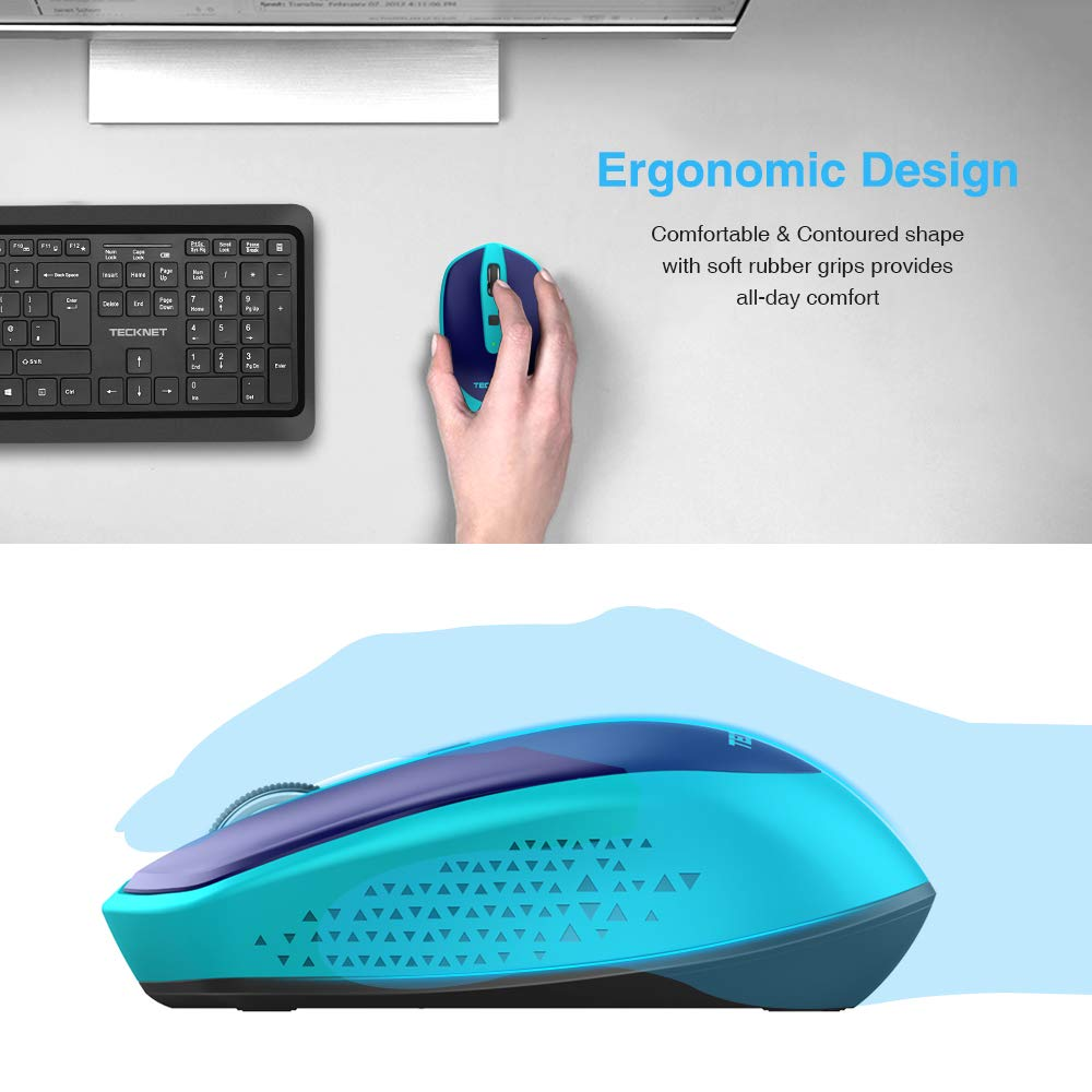 0f512b4d6fa Amazon.in: Buy TeckNet M001 PURE 2.4G Wireless Mouse, 6 Buttons, 18 Month  Battery Life, 3 Adjustable DPI Levels: 1600/1200/800dPi, Nano Receiver- Blue  ...