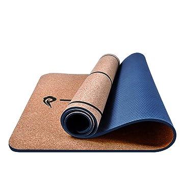 MJXVC 5 MM TPE + Esteras de Yoga de Corcho Línea de posición ...