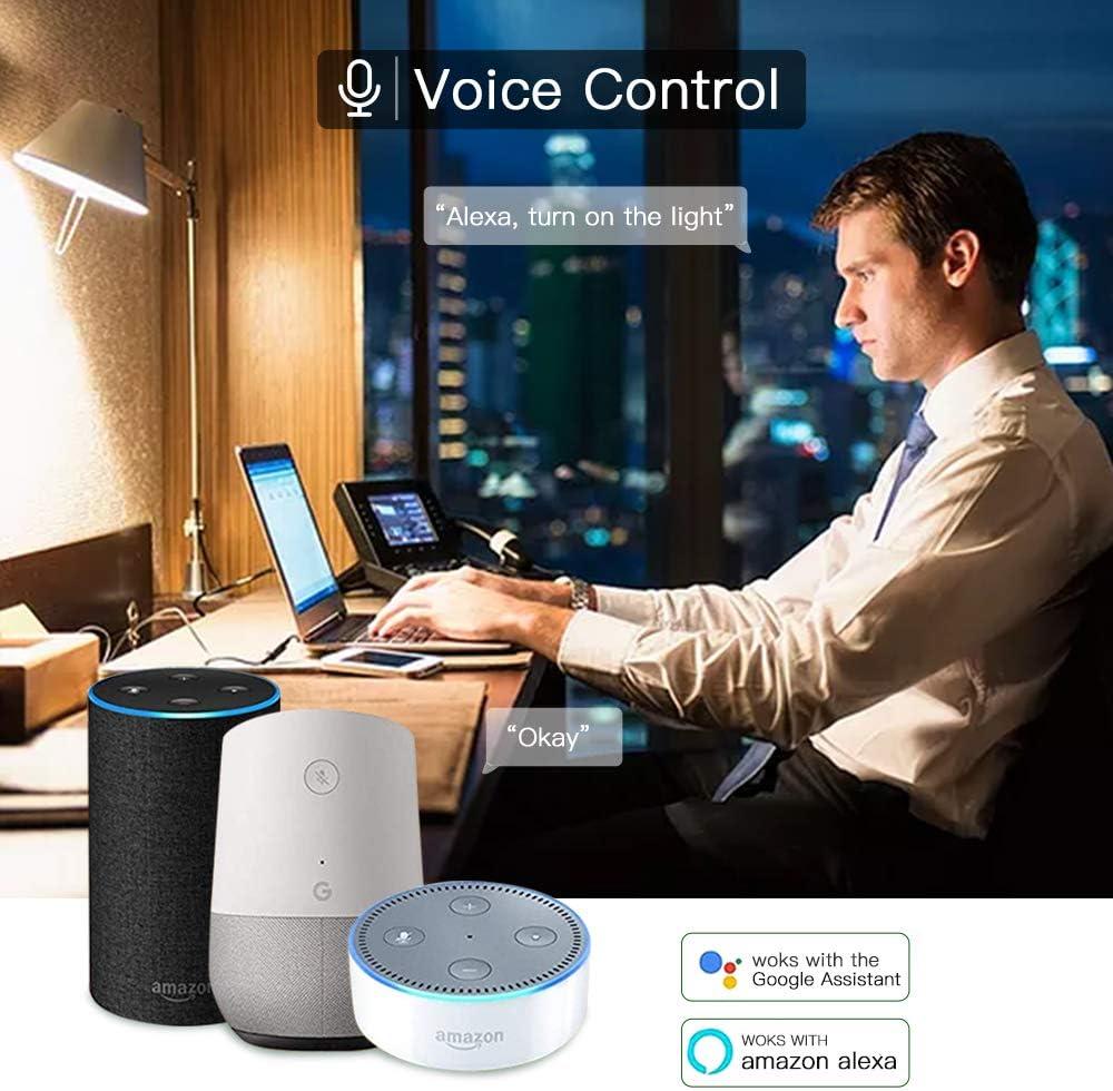 600lm RGB Regulable Compatible  Alexa y Google Assistant 4 Unidades Bombilla Inteligente WiFi B22 A60 LED L/ámpara 7W Equivalente de 60W Control Remoto por Dispositivos iOS Android
