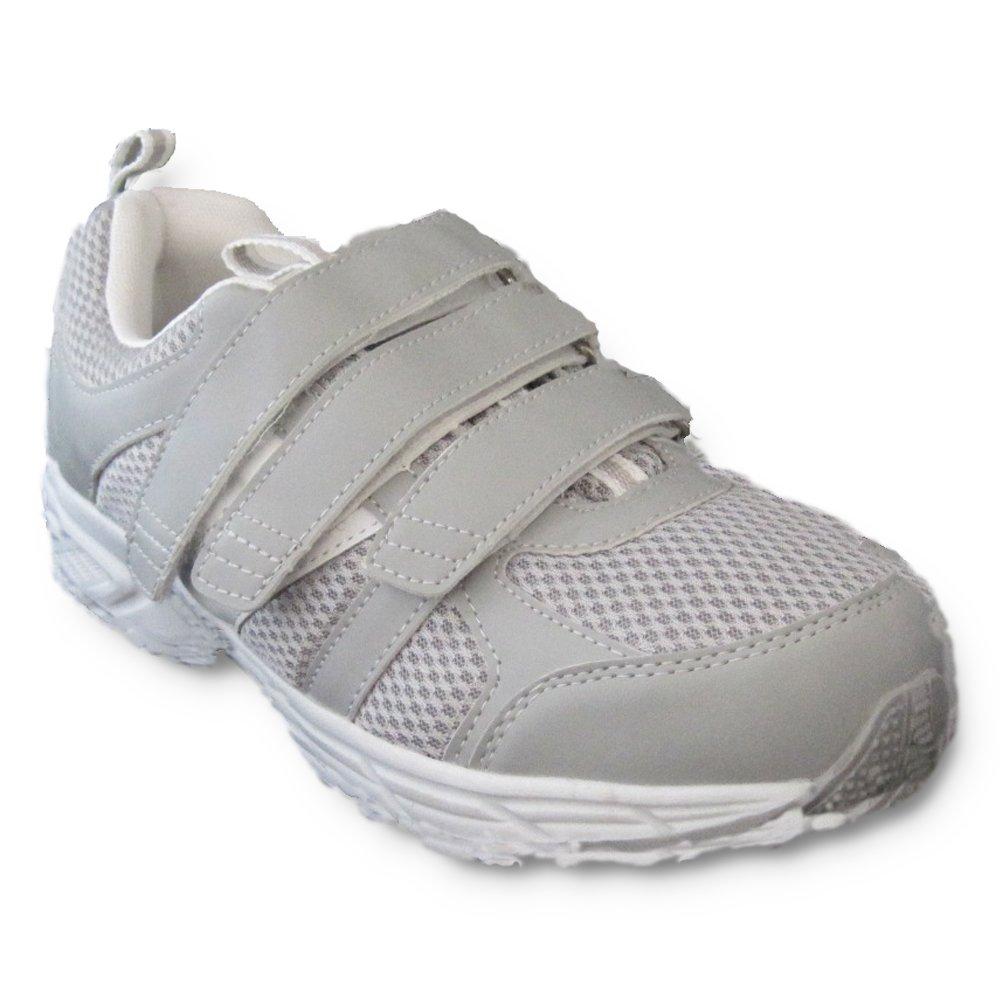 Dr Zen Jordan Women's Comfort Therapeutic Extra Depth Shoe: Grey 10.5 X-Wide (4E-6E) Velcro