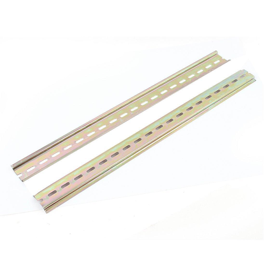2pcs fendue en métal 35 mm Din Montage Rail 40 cm long pour AC Contacteur