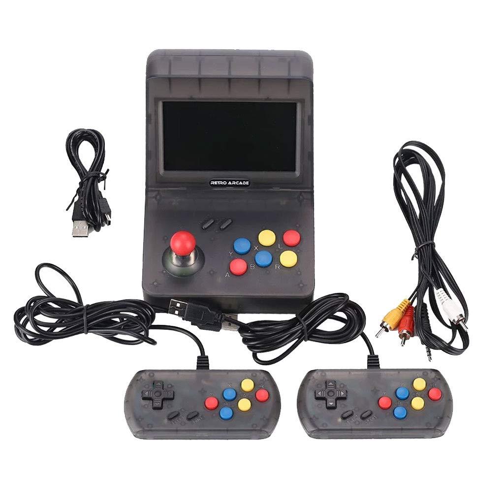 KESOTO Mini Arcade Game Retro Console Jeux Vidéo de Poche Classiques Accueil Voyage avec 2 Contrôleurs - 3000 Jeux Classiques pour Enfant Adulte