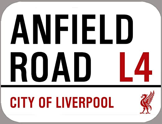 HNNT Señal de Calle de Metal Liverpool. Señal de Metal Anfield ...