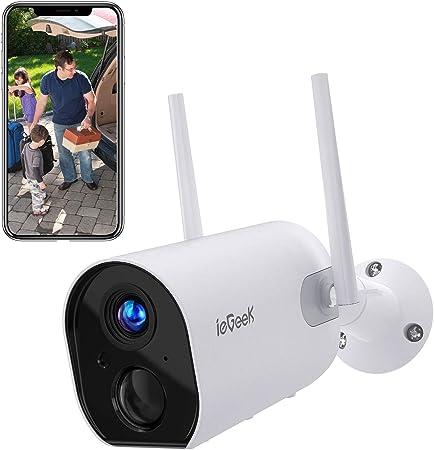 1080P Telecamera di Sorveglianza per Esterno Rilevamento movimento Bianco Ctronics Videocamere di Sicurezza Wi-Fi Telecamera IP Telecamera Bullet Senza Fili con Audio bidirezionale