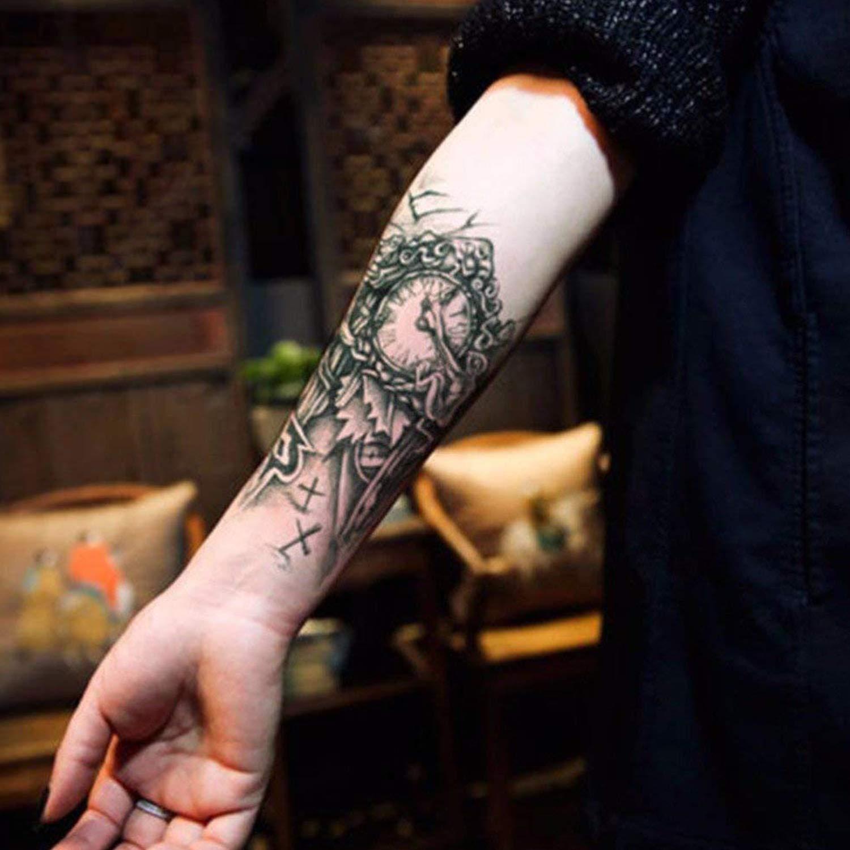 SZSMART 9 Hojas Tatuajes Temporales de Moda Tamaño Brazo, Duraderos Pegatina Mano Fake Tatoo para Hombres Mujeres AdultosImpermeable, No Permanentes, ...