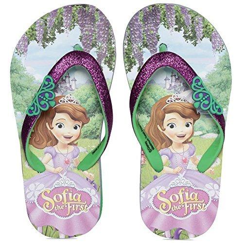 Sofia The First Girl's Purple Flip-Flops-7 Kids UK/India (24 EU) (DPPGFF0297)