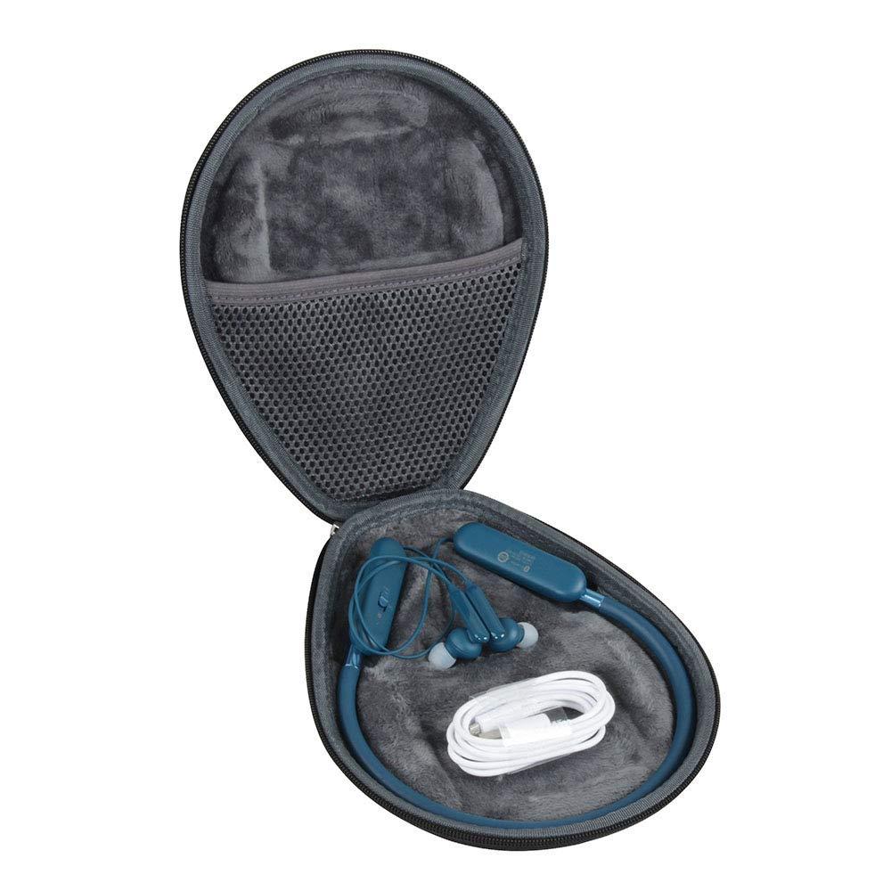 Hermitshell Hard EVA Travel Black Case fits Samsung U Flex Bluetooth Wireless in-Ear Flexible Headphones