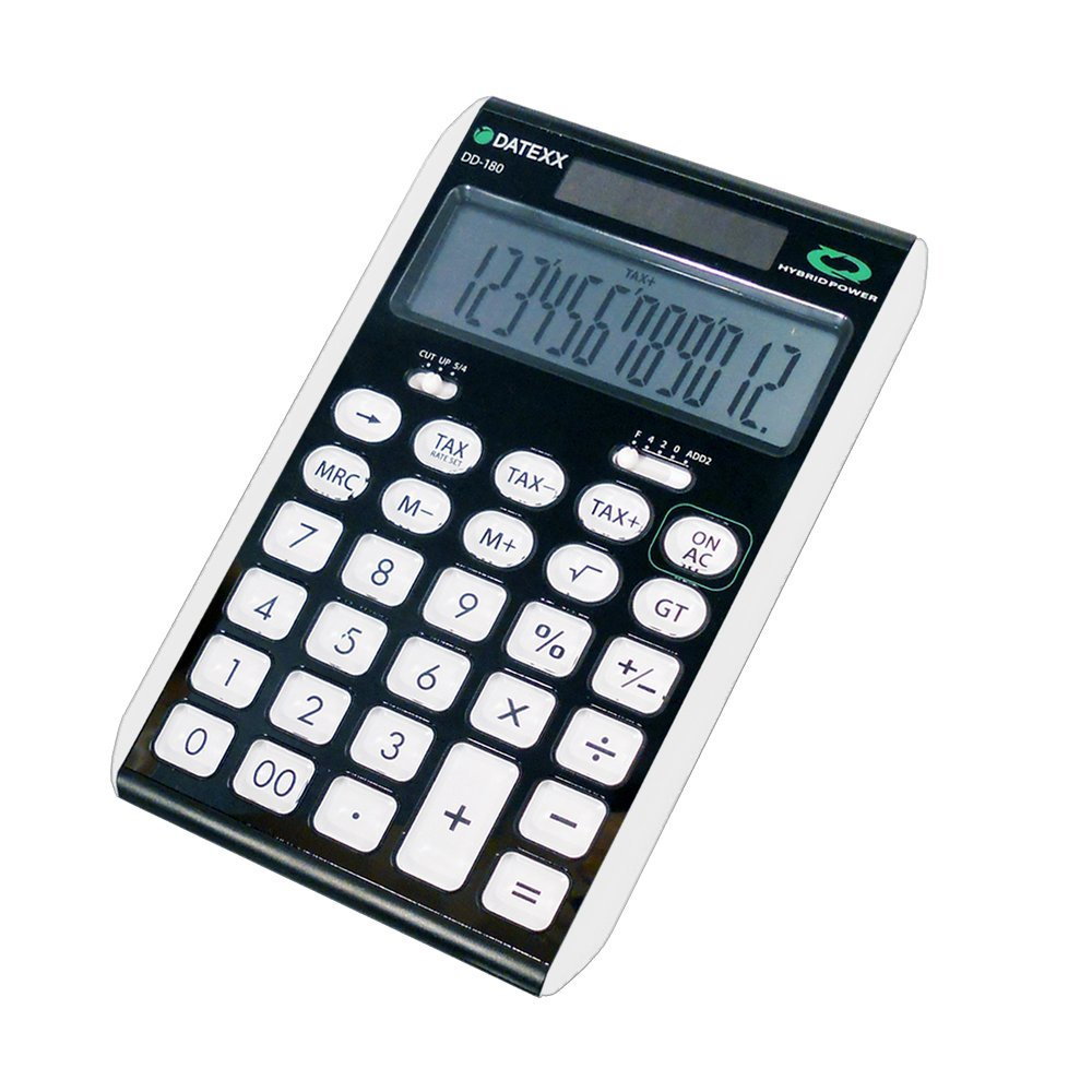 Datexx DD-180GRN 12 Digit Hybrid Slim Line Desktop Calculator