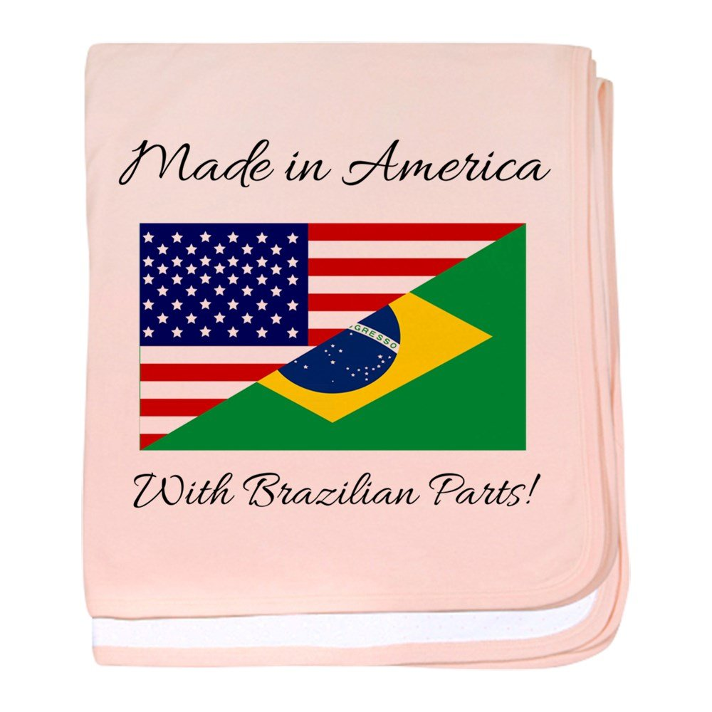 CafePress - Made In America With Brazilian Parts! - Baby Blanket, Super Soft Newborn Swaddle