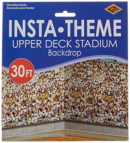 Upper Deck Stadium Backdrop Party Accessory (1 count) (1/Pkg)