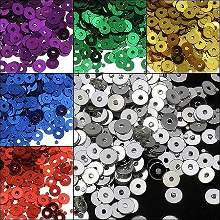 Perlin - 26.400 unidades de lentejuelas de 3 mm de diámetro, juego de 11 colores, lisas, redondas y redondas para ropa y joyas, artesanía, metalizadas y manualidades