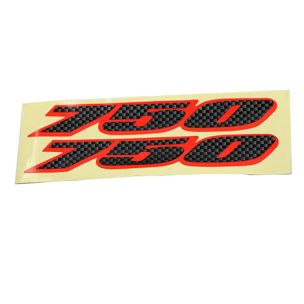 Alpha Rider Decal Sticker Emblem Label Fairing Sticker 750 Fit For SUZUKI GSXR750 GSXR 750 Bling Red Style Motofans