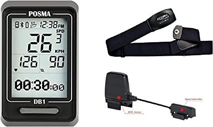 3in1 Bicycle Cycling Computer w// Cadence Heart Rate Monitor Odometer Speedometer
