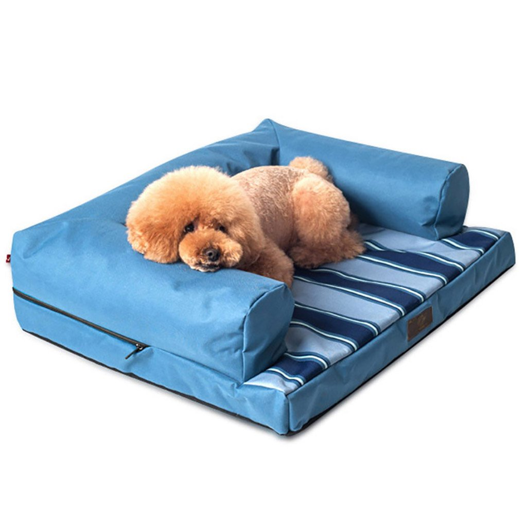 blueE GXFDP Dogs Bed House Mattress Cushion Sleeping Bag Medium Small Dogs Best Pet Supplies Full Removable Wash Four Seasons Universal (color   blueE)