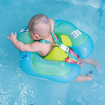 Eulan Baby Swimming Ring Inflatable Pool Float with Backrest ...