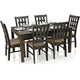 Royal Oak Daisy Six Seater Dining Table Set (Walnut)
