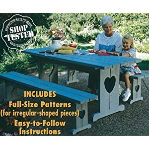 A Woodworking Pattern and Instructions Pkg to Build a Country-style Picnic Table and Benches