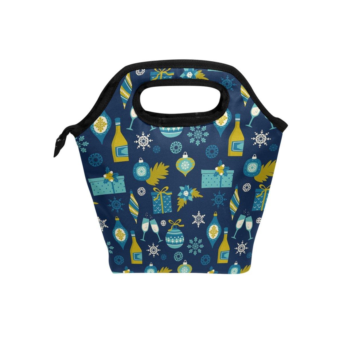 JSTEL - Bolsa de almuerzo con bolsa de mano, bolsa de almuerzo, contenedor de alimentos, para viajes, picnic, escuela, oficina