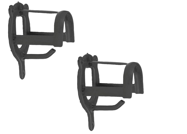 Kerbel Set 2 x Trensenhalter aus Metall schwarz Pferd