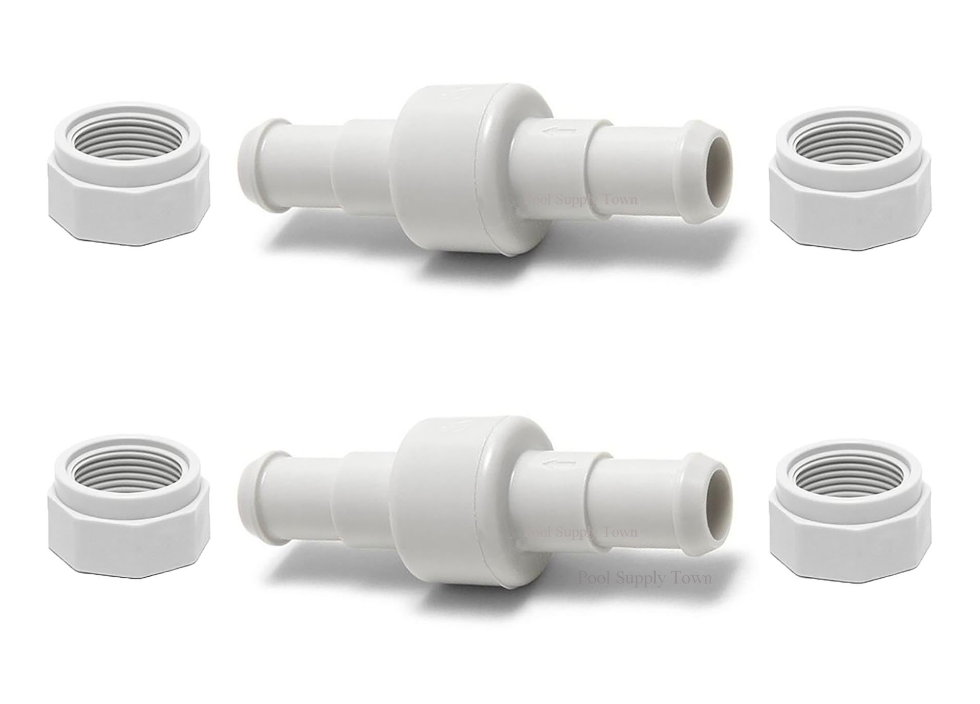 ATIE PoolSupplyTown 280 Hose Swivel and Hose Nut Kit Replace Polaris 280, 380, 180 Pool Cleaner Hose Swivel D20 and Hose Nut D15 (2 Pack) by ATIE
