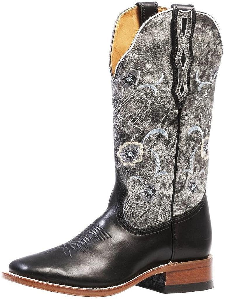 Soul Rebel Stiefel Amerikanischen – Stiefel Western bo-4190 – 65-c (Fuß Normal) – Damen – Grau Schwarz