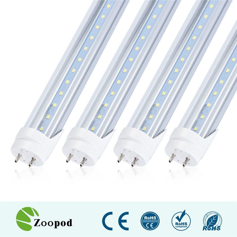zoopod t8 led tube light 4ft to replace fluorescent tubes. Black Bedroom Furniture Sets. Home Design Ideas
