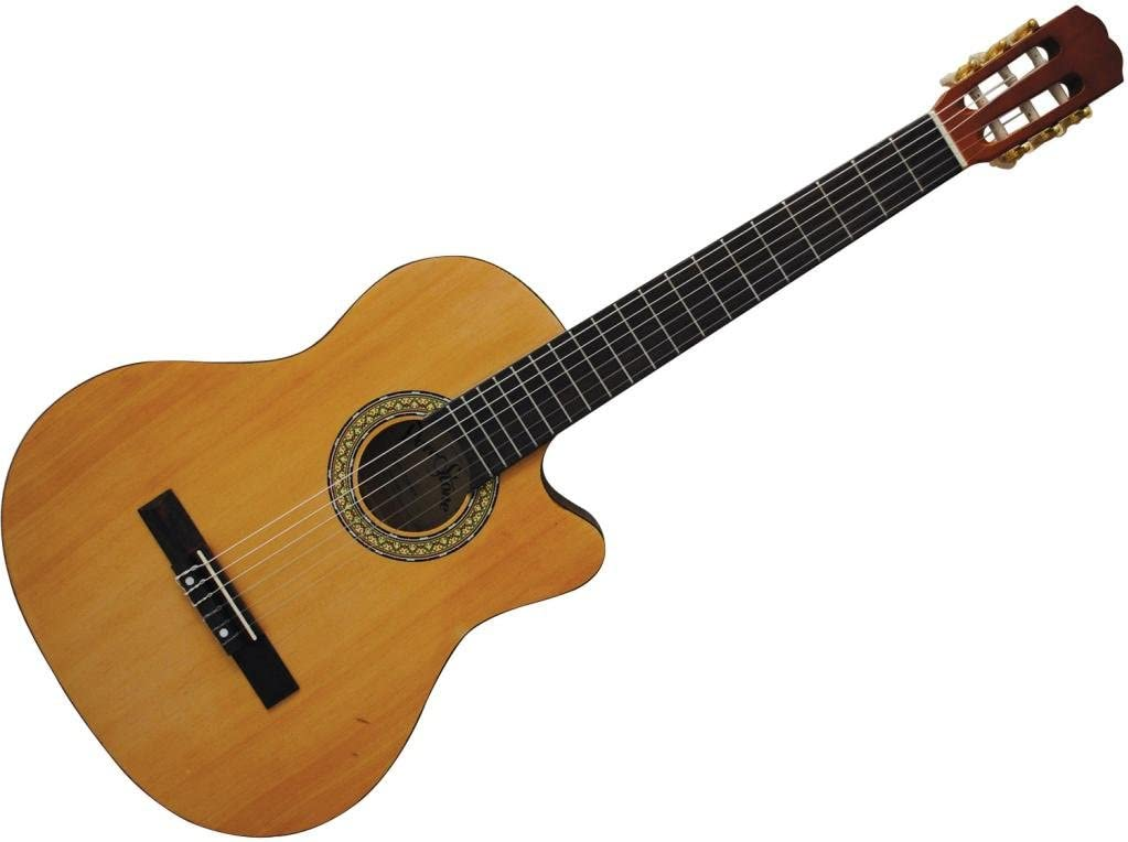 Darestone cg44ce Guitarra Clásica electrificada: Amazon.es ...