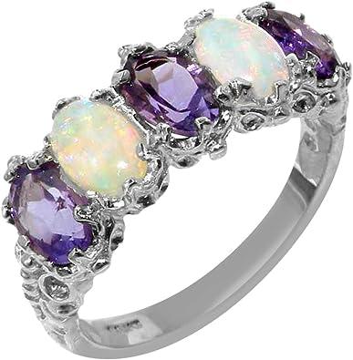 Luxury 925 Silver Eternity Amethyst Cut Purple Cubic Zircon Jewelry Ring !!