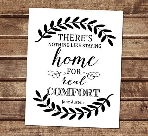 There Is Nothing Like Home Quotes: Amazon.com: Jane Austen Quote Art Print, There Is Nothing