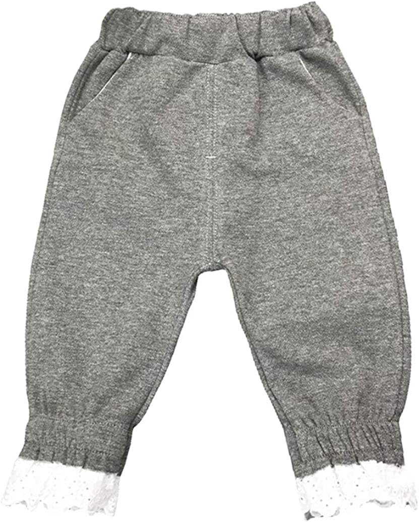 WINDYLEE Kids Toddler Girl Summer Clothes Cotton Linen Anti-Mosquito Pants Bow Harem Pants Long Bloomers Hiphop Trousers