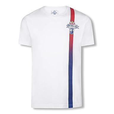 Red Bull Batalla Fading Camiseta, Blanco Hombre Top, Batalla de los Gallos Hip Hop Freestyle Original Ropa & Accesorios