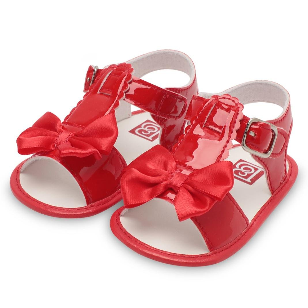 Sandalias de Bebé ❤ Amlaiworld Verano Infantil Bebé Niña Bowknot Cuna Zapatos Zapatos únicos antideslizantes de suela blanda Sandalias Zapatilla Sneaker ...