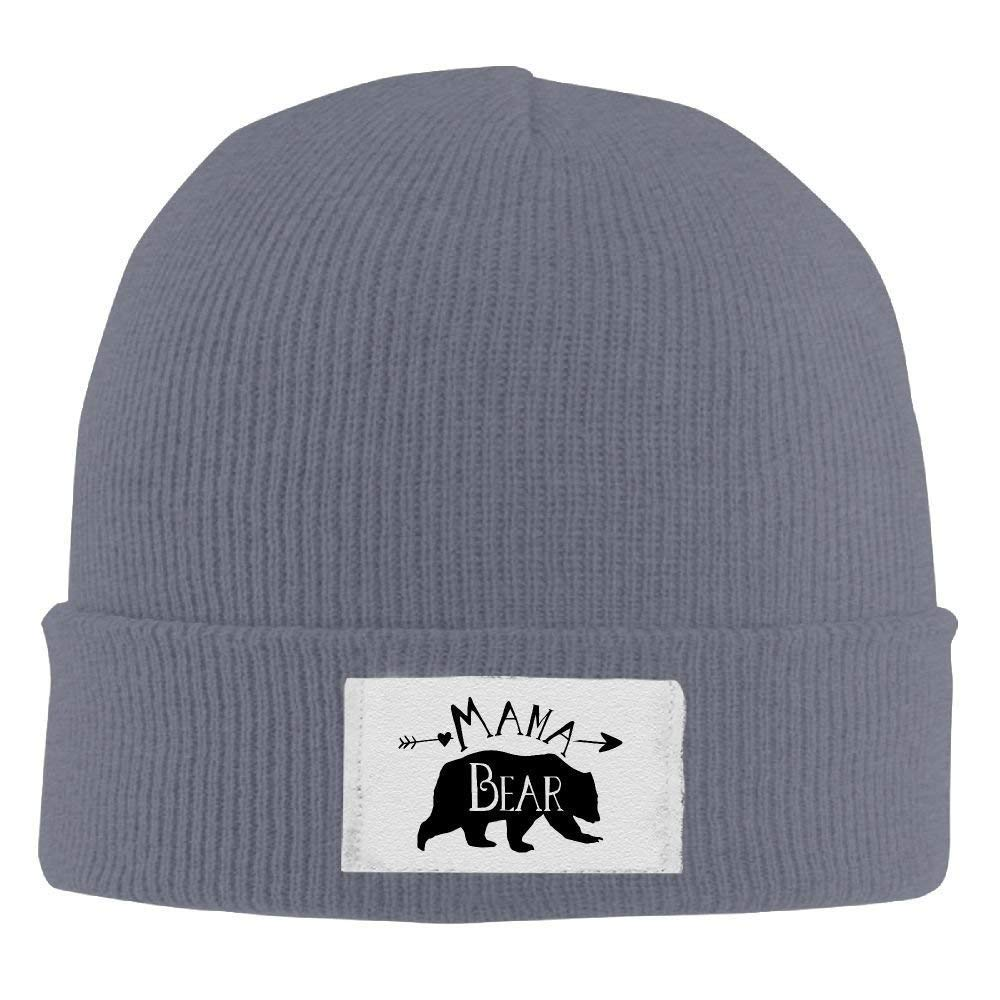 9f4cf85e35d Amazon.com   Mama Bear Winter Warm Knit Hats Skull Caps Soft Cuff Beanie Hat  for Men and Women   Sports   Outdoors