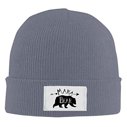 ff11f7ff605 Image Unavailable. Image not available for. Color  Mama Bear Winter Warm  Knit Hats Skull Caps Soft ...